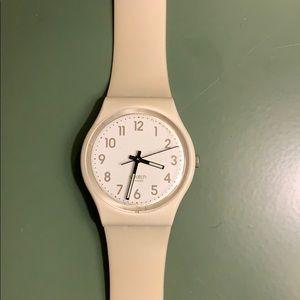 Off white swatch watch